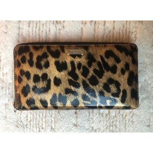 kate spade - Zip-around Cheetah Print Wallet